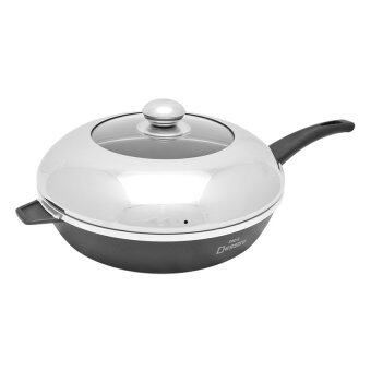 nice dessini nonstick frying pan with cover medium28cm - Non Stick Frying Pan