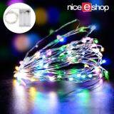 niceEshop LED Fairy String Lights Indoor And Outdoor 5m 50 LEDs Copper Wire Light Battery Powered For Christmas Bedroom Garden Party Wedding Decoration Multicolor