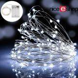 niceEshop LED Fairy String Lights Indoor And Outdoor 5m 50 LEDs Copper Wire Light Battery Powered For Christmas Bedroom Garden Party Wedding Decoration White