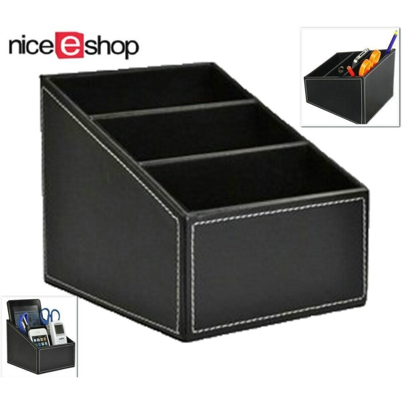 niceEshop TV Guide Holder Remote Controller Organizer Storage Box Desk Caddy (Black) Malaysia