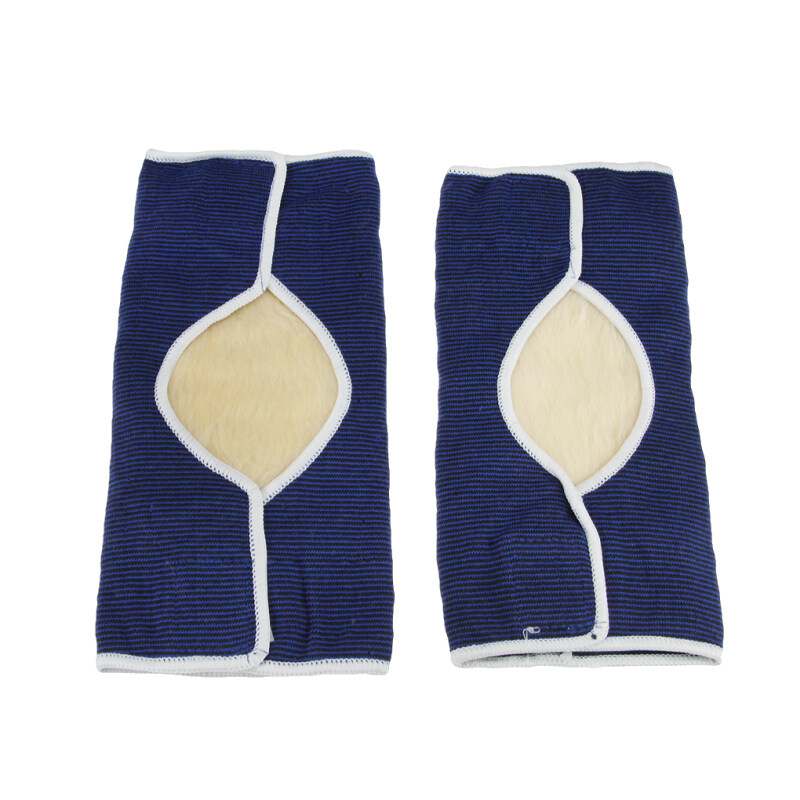 Buy ONE PAIR Winter Thermal Knee Warmer Goat Wool Padded Knee Support Knee Pad Warmer Elastic Knee Band Brace for Mens Womens Adults Blue Malaysia