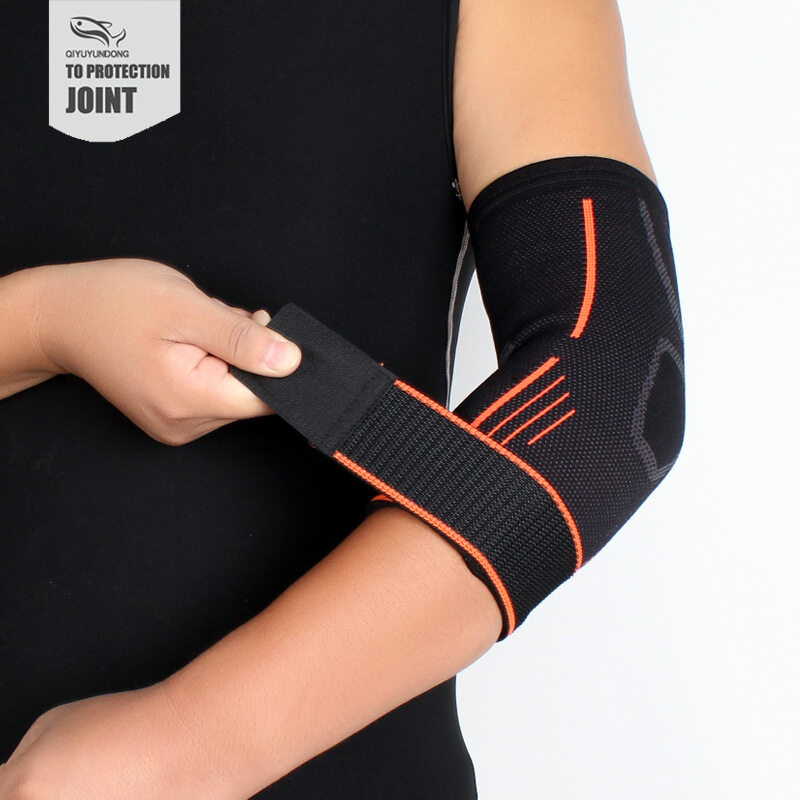 Outdoor sportswear pressure elbow knit elbow pad longer perspiration breathable sports protective gear (fast delivery)