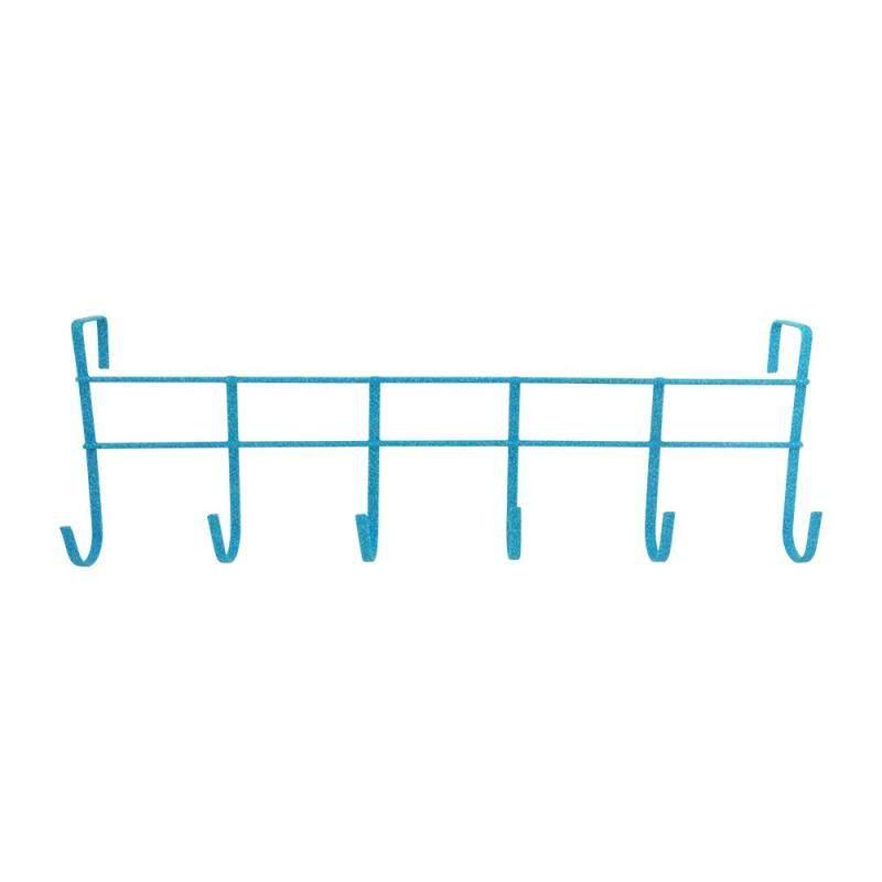 Over The Door 6-Hook Rack - Blue [170048B]