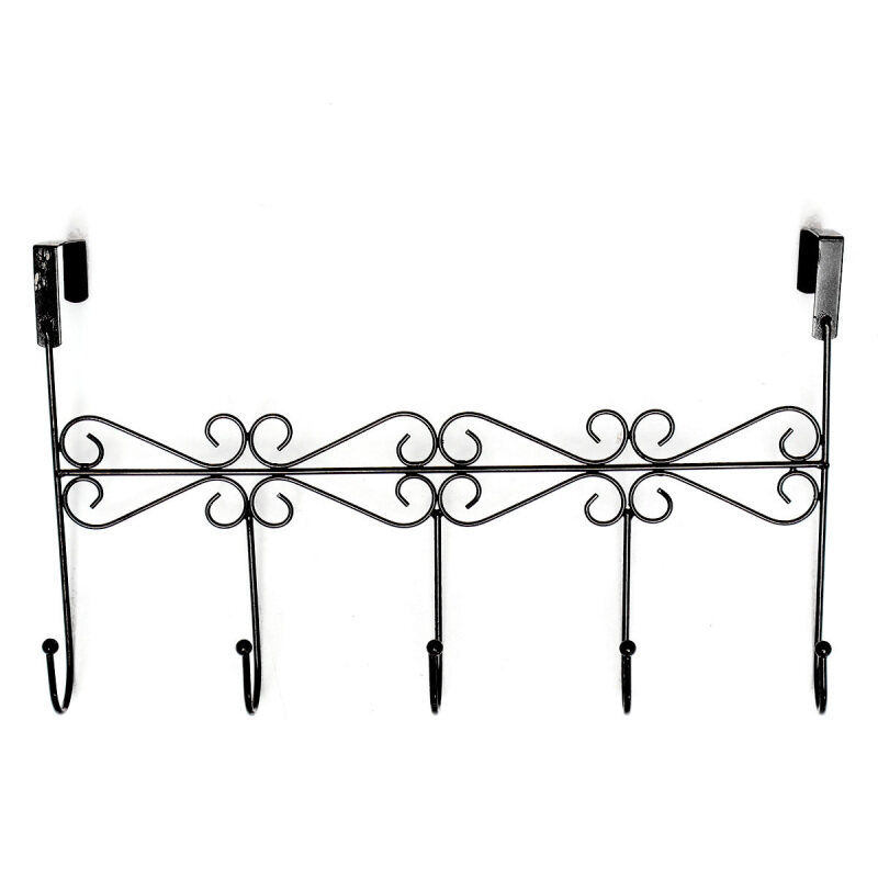 Buy Over the Door Iron 5 Hooks Rack Hanger Holder For Clothes Coat Hat Bags Hanging Malaysia