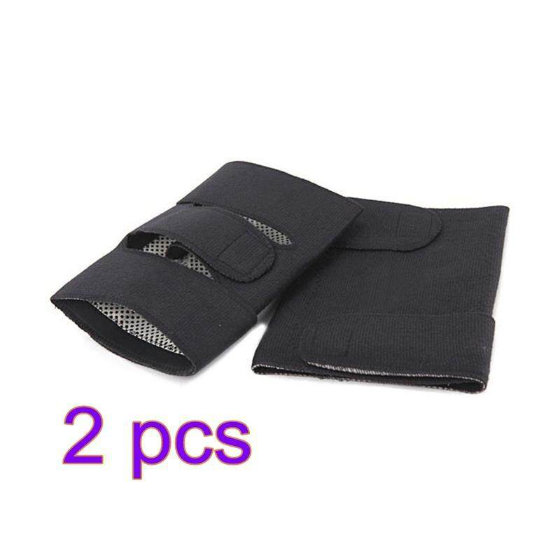 Buy Pair of Magnetic Therapy Thermal Self-heating Knee Pad Belt Knee Support Brace Protector (Black) Malaysia