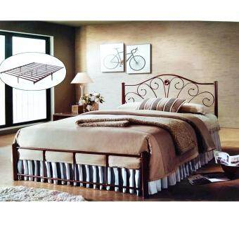 Harga PJY XE 007 Queen Metal Bed (Brown)
