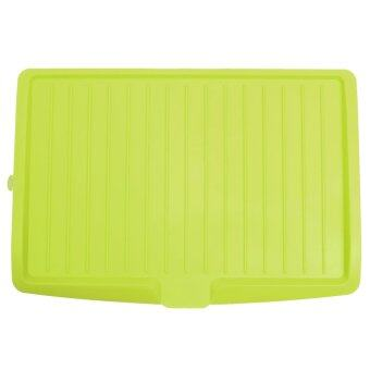 Plastic Dish Drainer Tray Large Sink Drying Rack. Worktop Dish Drainer Green