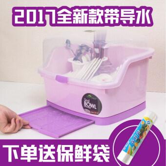 Plastic household dish water draining dish rack cupboard - 2