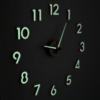Present 3D Frameless Large Wall Clock Style Zero Noise Glow