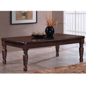 Preve Solid Wood Coffee Table With Spiral Carved Legs