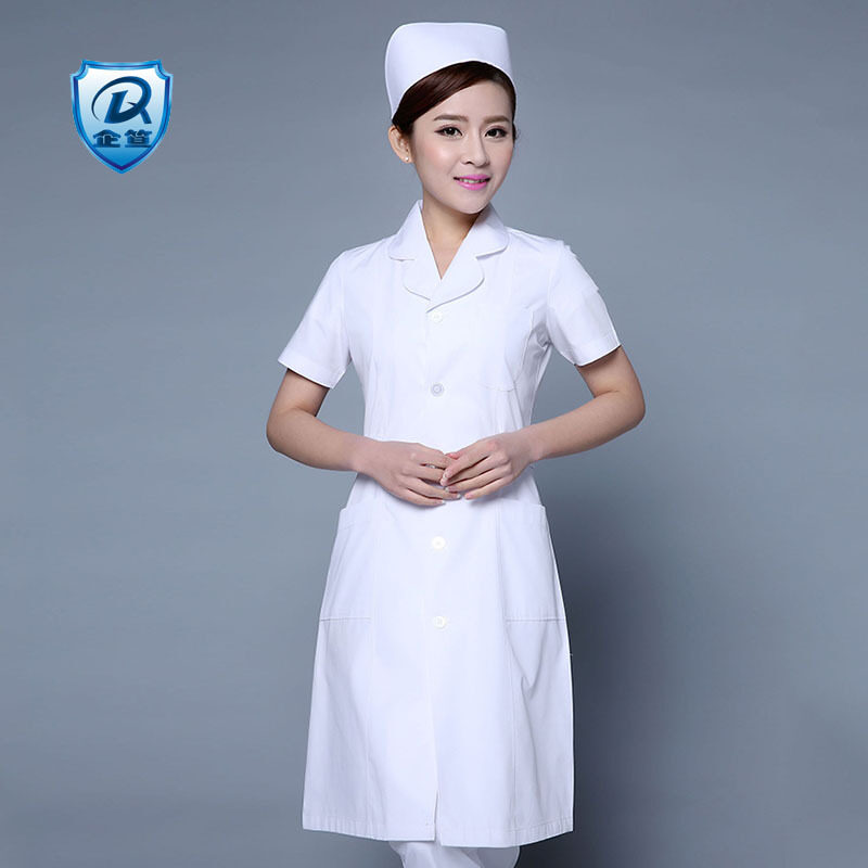 Buy Prices da nurse clothes white coat long short-sleeved doctor clothes summer for men and women beauty salon clothing surgical clothing Pharmacy Work clothes Malaysia
