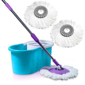 490 spin mop with 3 white mop heads