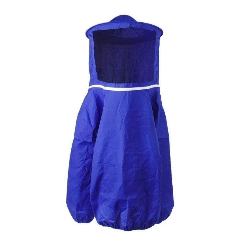 Professional Beekeeping Jacket Veil Protective Equipment---Blue