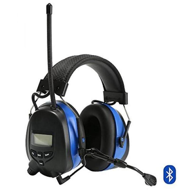 Buy Protear Hearing Protector,Bluetooth 4.3 and MP3 Compatible with AM/FM Digital Radio,with a Earmuff Clip,Electronic Noise Reduction Safety Ear Muffs,NRR 25dB Ear Defenders for Working Mowing Malaysia