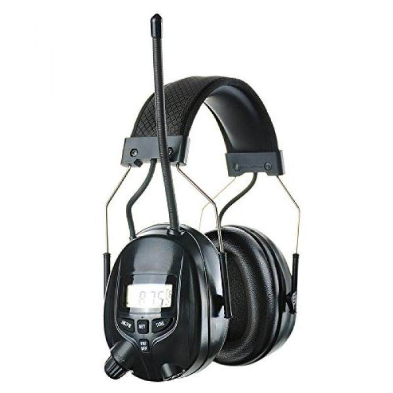 Protear MP3 Compatible with AM/FM Tuner Safety Earmuffs Electronic Noise Reduction Ear Defenders Hearing Protection with a Earmuff Clip for Mowing,Shooting,Hunting - NRR 25dB