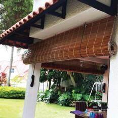qj bamboo blinds outdoor 6u0027 x 6u0027 natural bidai buluh