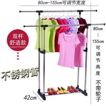 Quality stainless steel collapsible drying racks indoor floor single/double hanger, Heavy Duty Drying Rack Clothes Rack for Laundry