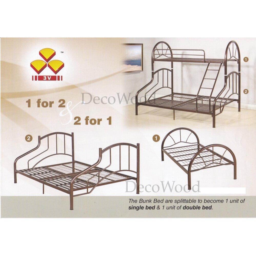 Bed Bedframe Large Homestay Master Bedroom Katil Besi Kuat Copper Hammerstone Colour Pre Order 1 Week