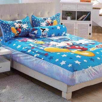 queen size fitted bedsheet set mickey printing children bedsheets