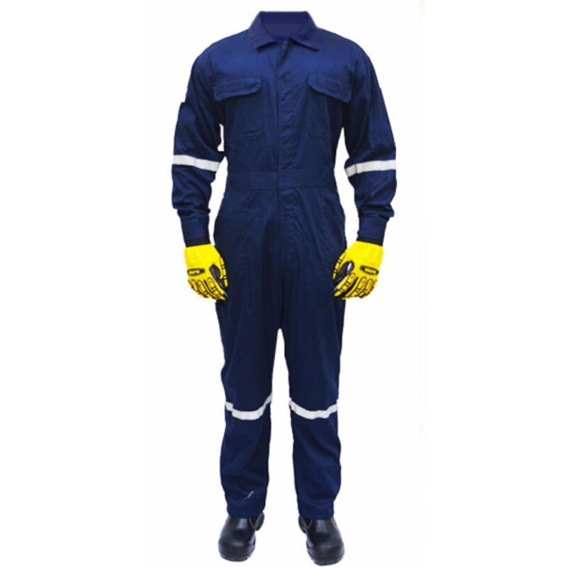 QUEST Safety Reflective Workwear Coverall Navy Blue Size 3XL