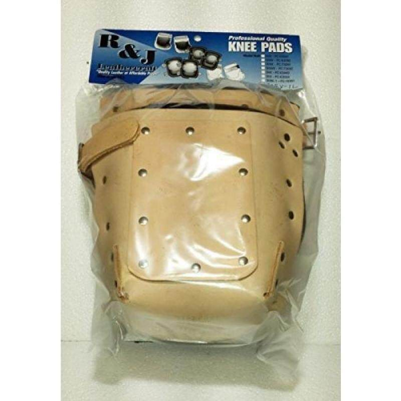 R&J Leathercraft 309X-1L,Leather Knee Pads w/Double Felt Inner Lining, 1 Leather Strap, Plus Leather Protection, Made in USA*****
