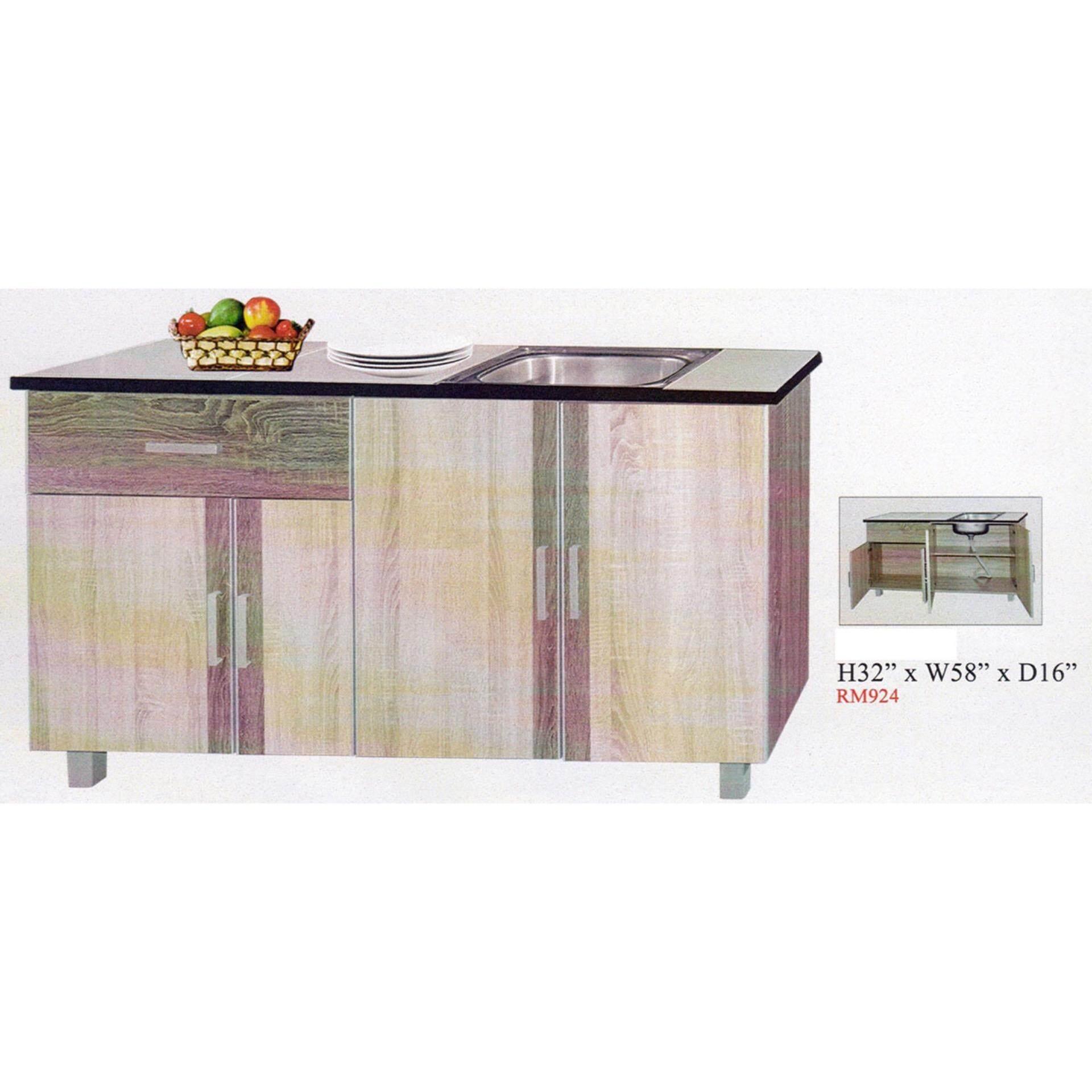Ready-Fixed 5-Feet Kitchen Cabinet With Sink Kitchen Rack Kitchen ...