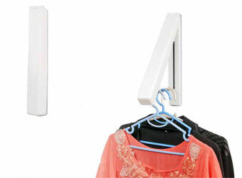 Rising Bazaar Foldable Bathroom Accessories Wall Mounted Clothes Holder Laundry Hanger (2PCS) - 4
