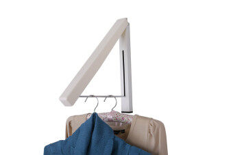 Rising Bazaar Foldable Bathroom Accessories Wall Mounted Clothes Holder Laundry Hanger (2PCS) - 2
