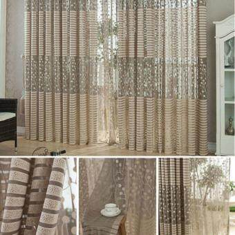Room Leaf Tulle Door Window Curtain - 3