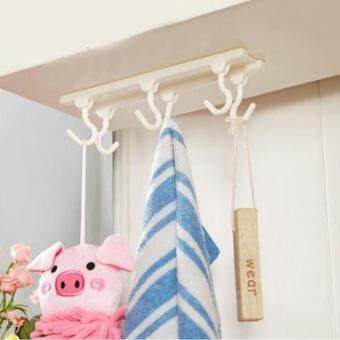 Rorychen Candy Color Kitchen Cabinet Six Hanging Hook CabinetHanging Hook
