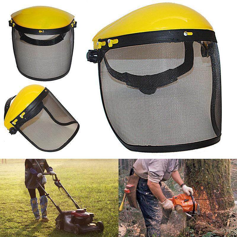 Buy Safety Logging Brushcutter Forestry Helmet with Full Face Mesh Visor Masks Malaysia