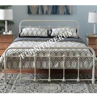 sandy vintage metal queen bed