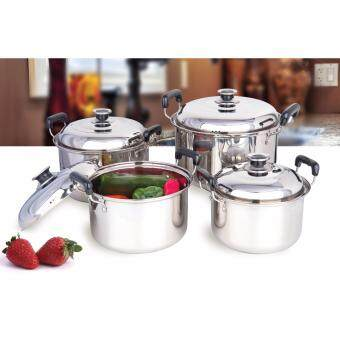 SATINNI [ 1 PC ] STAINLESS STEEL 22 CM POT WITH LID SMB13-E002