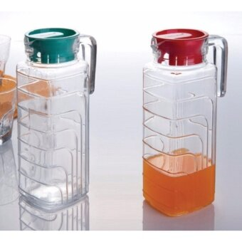 Satinni 1.1L Glass Jug With Cover [ x 2 pcs ] SM 05-KF024