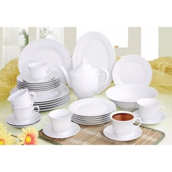 Harga Satinni 34 pcs Fine Porcelain Dinner Set SM 32-006-34