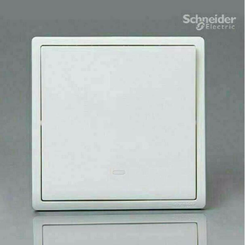 Schneider Pieno 16A  X 250V 1 Gang 1 Way Switch With Neon, White