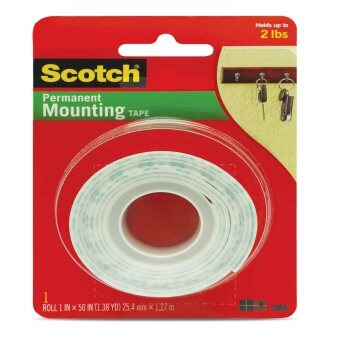 Scotch Mounting Tape 114, 1 in x 50 (25.4 mm x 1.27 m)