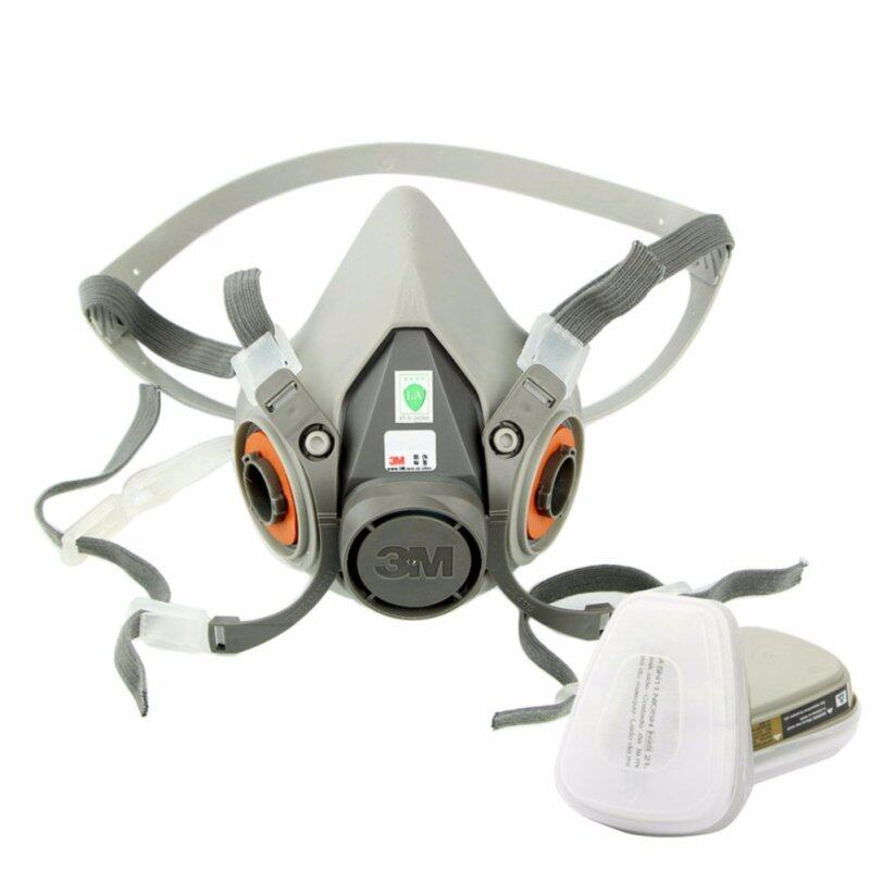 Buy Set of 7 pcs Respirator Painting Spraying Face Gas Mask 5N11 For 3M 6200 6001 Malaysia