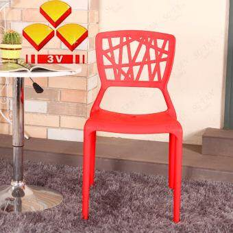 SG TAN 3V Solid Strong Restaurant Cafe Hall Plastic Chair x 4 Units