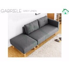 SG TAN :GABRIELE QUALITY SG LEATHER PSC ,QUALITY FBIRC Sofa 2 Seater (73CM  X 151CM X 77CM) Scandinavian Style Modern Sofa OFFICE And Living Room
