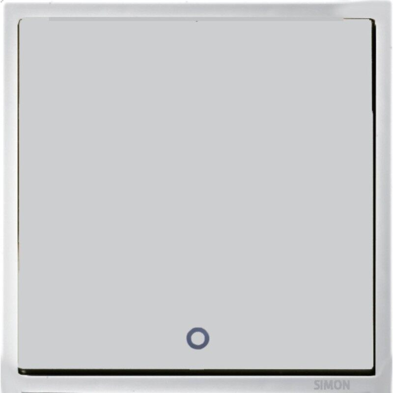 SIMON 20A 2 way DP Water Heater / Air Conditioner c/w LED Indicator (Blue) - Matt White