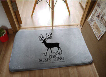 Simple modern bedroom bathroom absorbent non-slip step into the door mat
