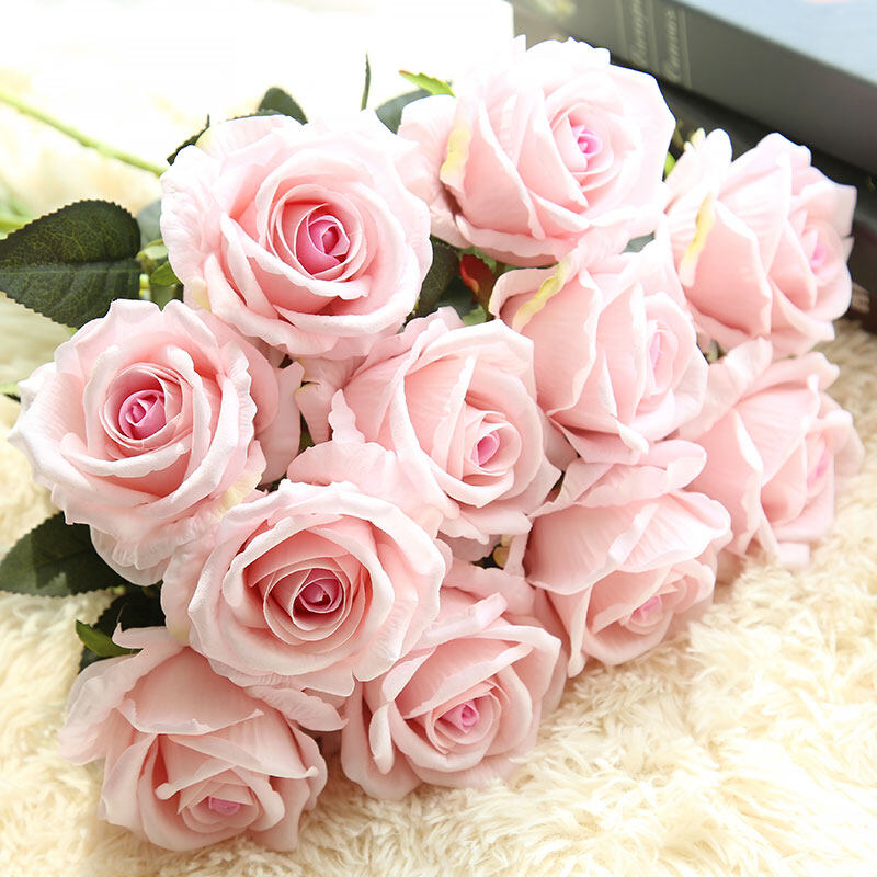 Harga Saya Single Branch rose flower artificial flower living room ...