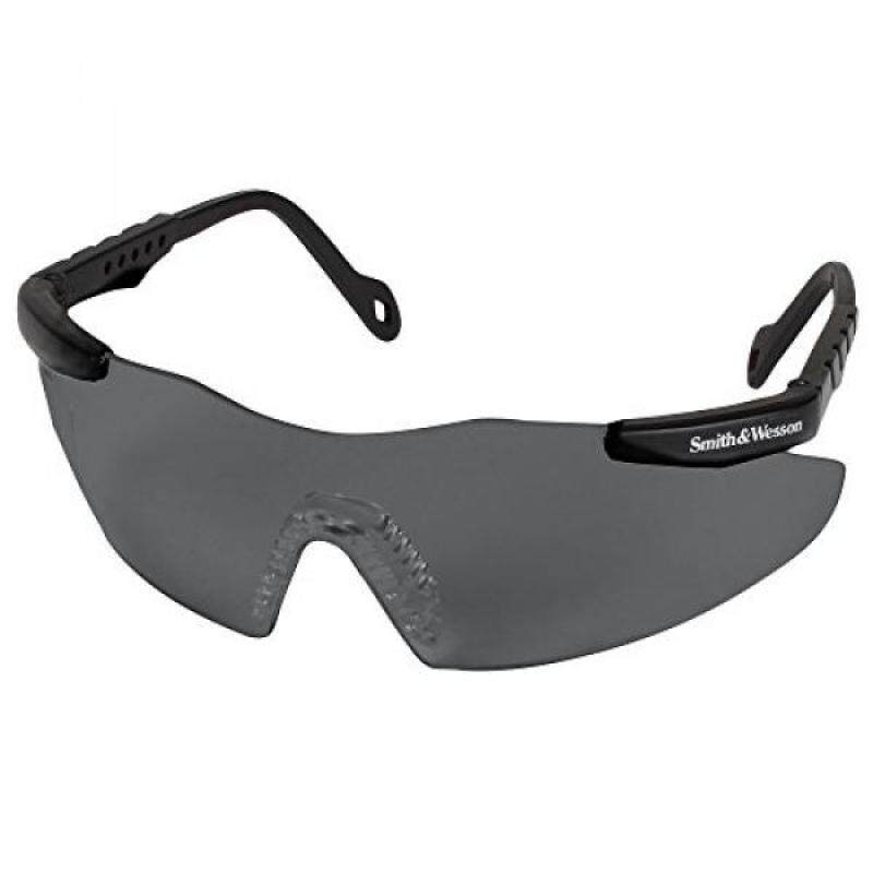 Smith and Wesson Safety Glasses (19823), Magnum 3G Safety Eyewear, Smoke Lenses with Black Frame, 12 Units / Case