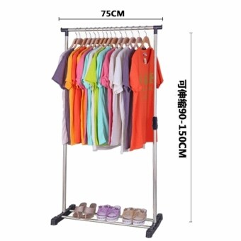 Snnei coat simple clothes retractable drying racks double rod racks