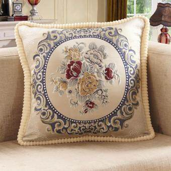 Sofa pillow cushion cover lumbar pillow embroidered long clothbedside living room European car home free shipping & Taobao cushion cover embroidered pillow Popular cushion cover ... pillowsntoast.com
