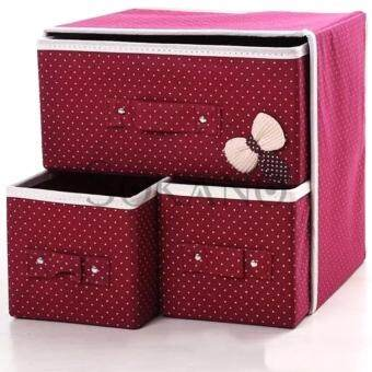 SOKANO Large Capacity 3 in 1 Drawer Style DIY Organizer Set- Maroon