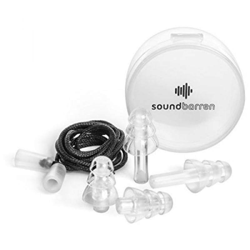 Buy SoundBarren Ear Plugs, 1 Reusable Pair, 28dB Hearing Protection Earplugs for Sleeping, Snoring, Shooting, Concerts, Musicians, and Travel Malaysia