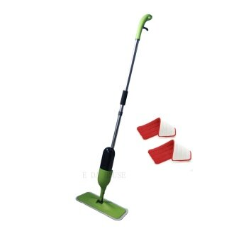 Spray Mop with Microfiber Mop and free one mop pad (Green)