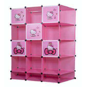 Harga Stackable Cube Storage With Corner (20-cubes) - Hello Kitty
